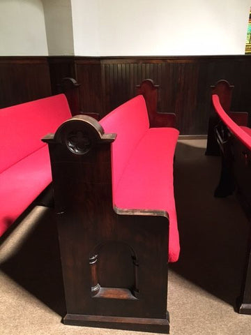 Pew, Straight, Upholstered