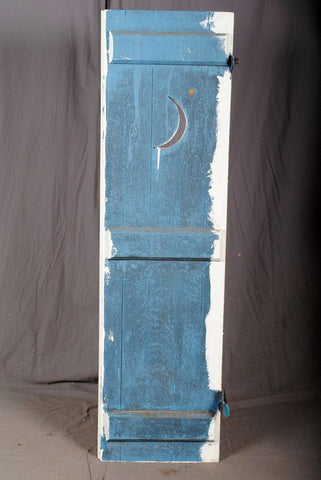 Wooden Shutter, Crescent Moon