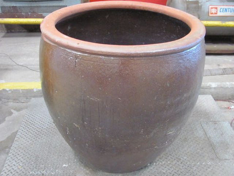 Large Ceramic Planter, Red/Brown