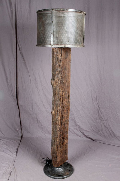 Railroad Tie Lamp