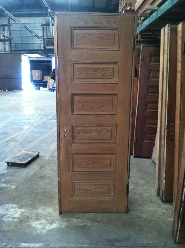 6 Panel Door in Jamb #8114 ... & 6 Panel Door in Jamb #8114 - Black Dog Salvage pezcame.com