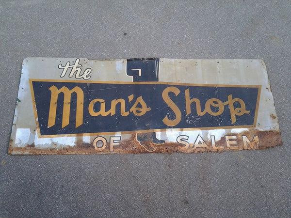 Sign, Man's Shop