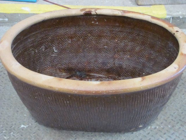 Rustic Oval Ceramic Bowl