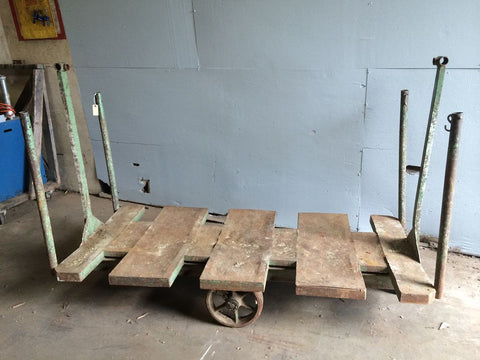 Industrial Slatted Factory Cart