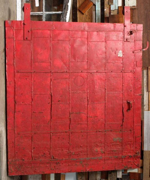 Red Fire Door with Track
