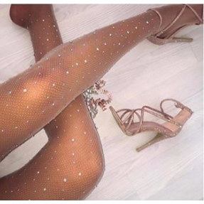 Crystal Nude Fishnets
