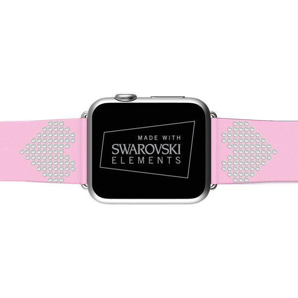 Apple Watch Soft Pink Replacement Band with Swarovski Heart