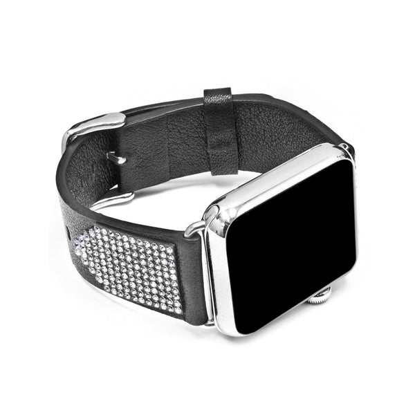 Apple Watch Black Replacement Band with Crystal Swarovski Elements - Shimmer Collection