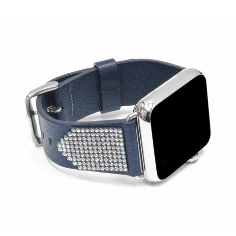 Apple Watch Navy Replacement Band  with Crystal Swarovski Elements - Shimmer Collection