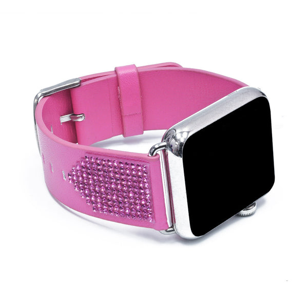 Apple Watch Pink Replacement Band with Rose Swarovski Elements - Shimmer Collection