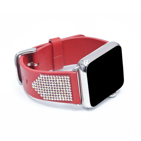 Apple Watch Red Replacement Band with Crystal AB Swarovski Elements - Shimmer Collection