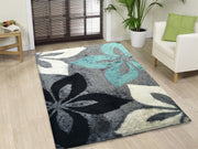 Vibrant Hand Tufted Modern Shag Lola 009 Area Rug by Rug Factory Plus - Rug Factory Plus