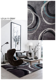 Vibrant Hand Tufted Modern Shag Lola 11 Area Rug by Rug Factory Plus - Rug Factory Plus