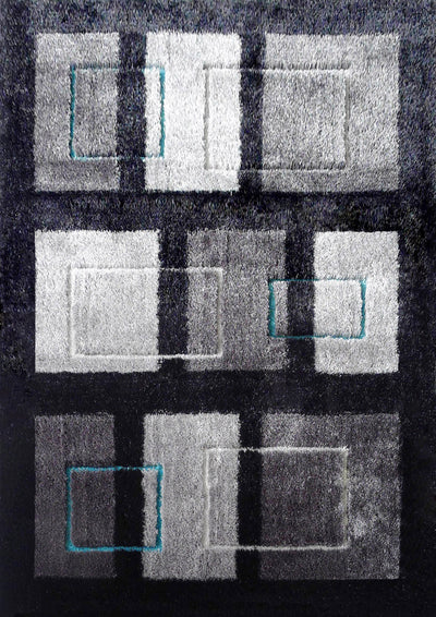 Vibrant Hand Tufted Modern Shag Lola 15 Area Rug by Rug Factory Plus - Rug Factory Plus