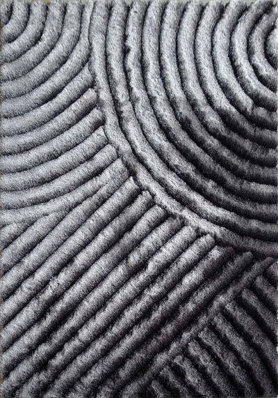 Soft Three Dimensional Polyester Viscose Hand Tufted 3D 309 Shag Area Rug by Rug Factory Plus