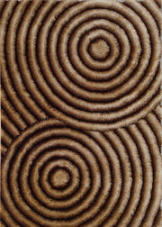 Soft Three Dimensional Polyester Viscose Hand Tufted 3D 313 Shag Area Rug by Rug Factory Plus
