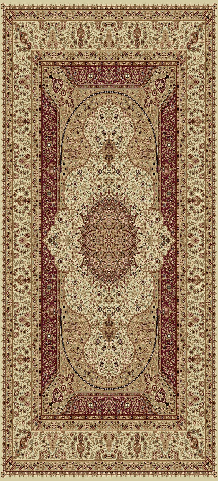 Persian Design 1.5 Million Point Heatset Tabriz 3916 Area Rug by Rug Factory Plus - Rug Factory Plus