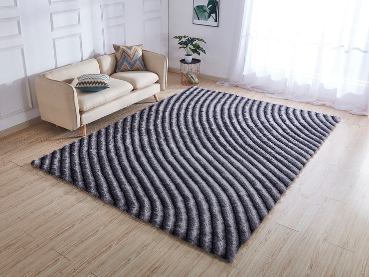 Soft Three Dimensional Polyester Viscose Hand Tufted 3D 303 Shag Area Rug by Rug Factory Plus - Rug Factory Plus