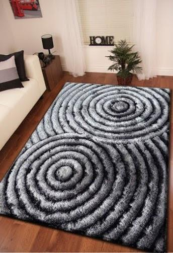 Soft Three Dimensional Polyester Viscose Hand Tufted 3D 313 Shag Area Rug by Rug Factory Plus - Rug Factory Plus