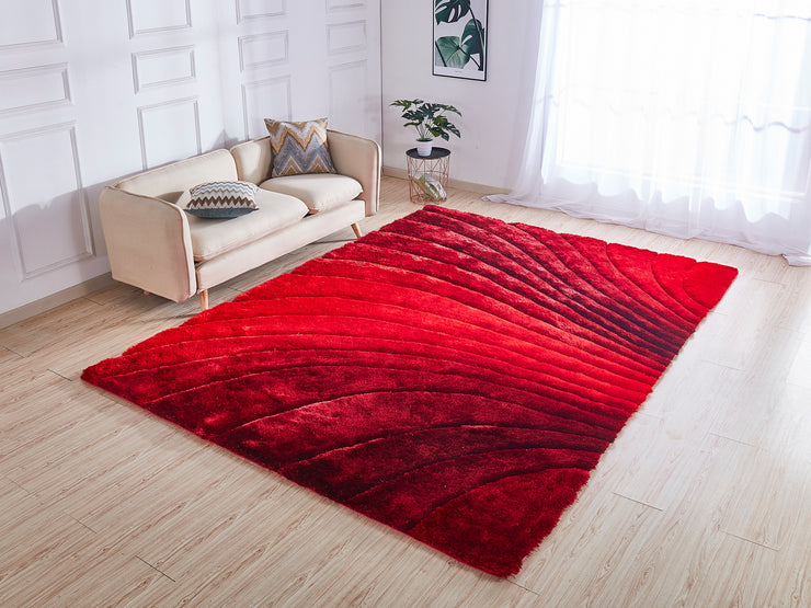 Soft Three Dimensional Polyester Viscose Hand Tufted 3D 315 Shag Area Rug by Rug Factory Plus - Rug Factory Plus