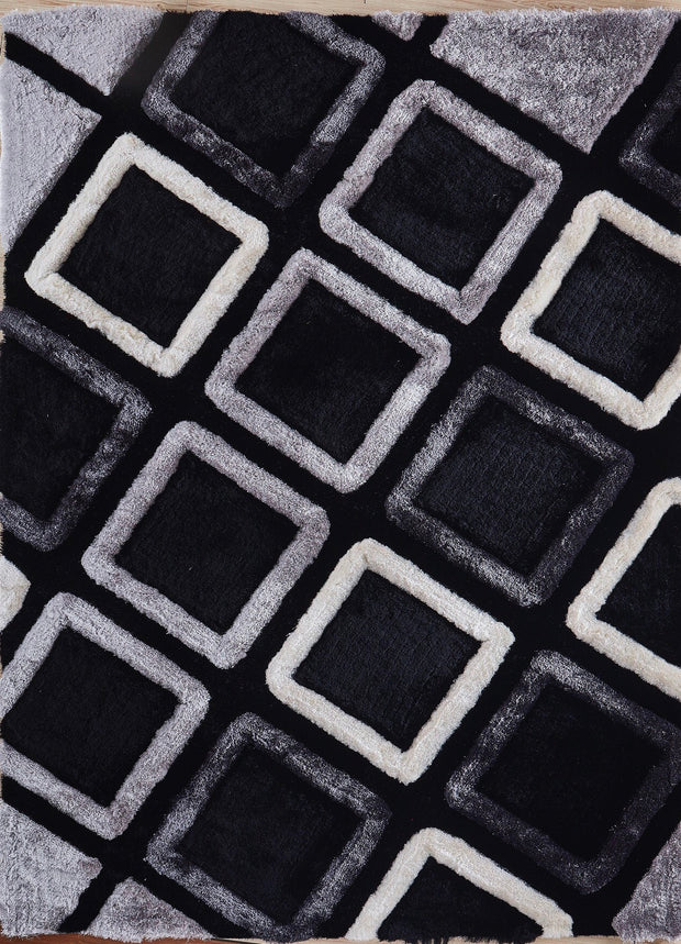 Soft Three Dimensional Polyester Viscose Hand Tufted 3D 316 Shag Area Rug by Rug Factory Plus