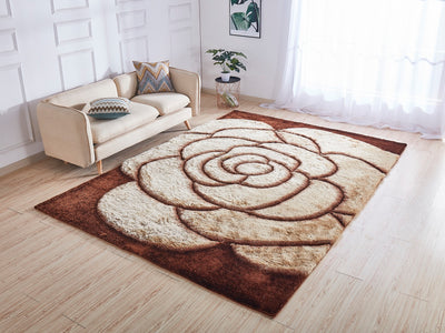 Soft Three Dimensional Polyester Viscose Hand Tufted 3D 317 Shag Area Rug by Rug Factory Plus