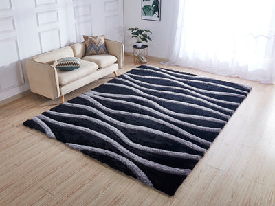 Soft Three Dimensional Polyester Viscose Hand Tufted 3D 318 Shag Area Rug by Rug Factory Plus