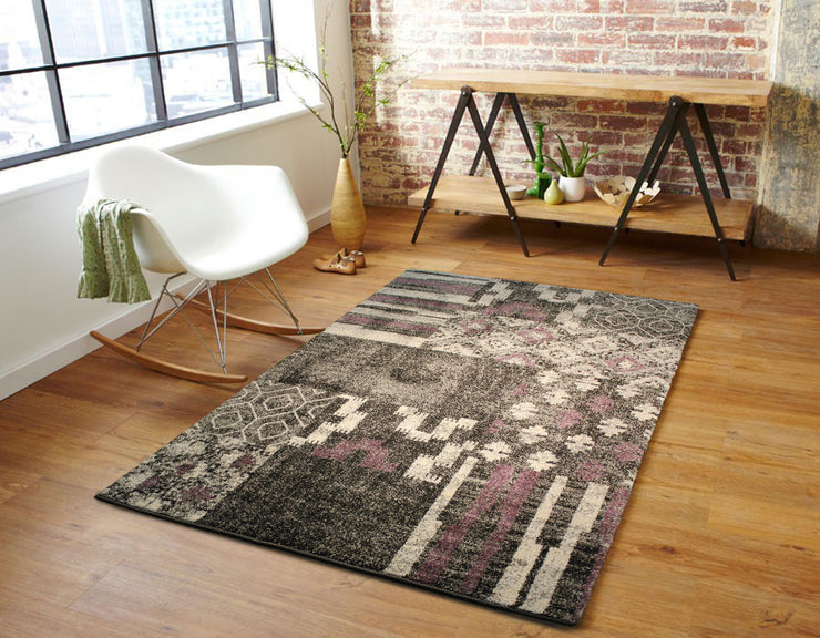 "Heavy Durable Plush Appx. 1"" Luxury Pile Alonzo AL 209 Area Rug by Rug Factory Plus - Rug Factory Plus"