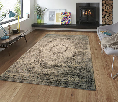 "Heavy Durable Plush Appx. 1"" Luxury Pile Alonzo AL 213 Area Rug by Rug Factory Plus - Rug Factory Plus"