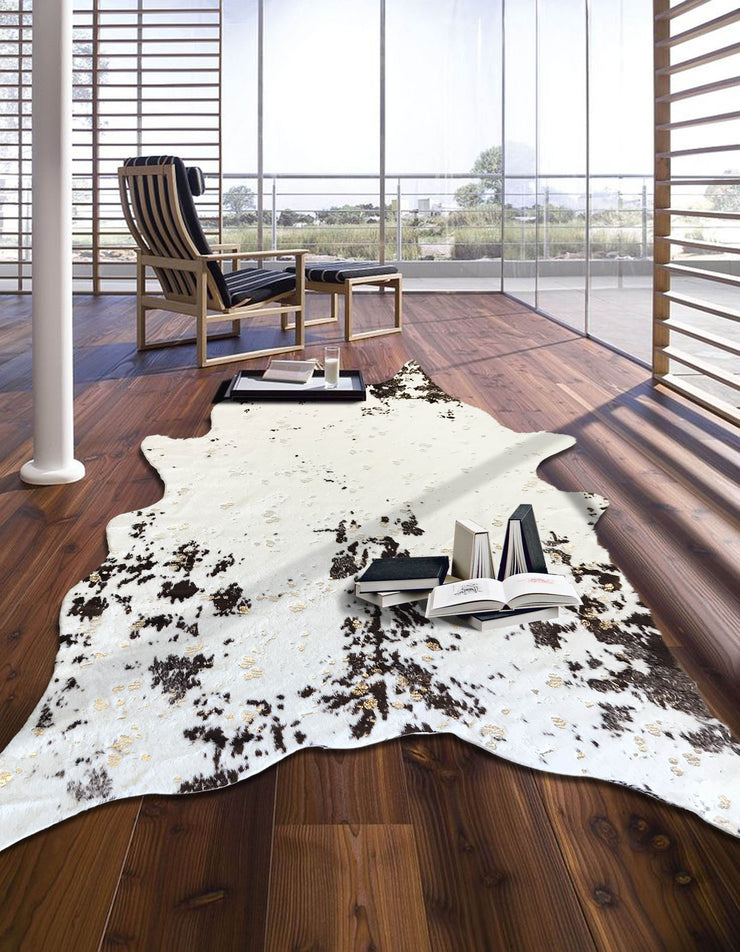 Modern Rustic Faux Fur Art Hide Metallic by Rug Factory Plus - Rug Factory Plus