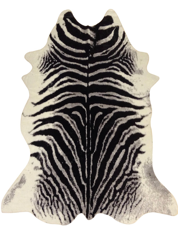 Modern Rustic Faux Fur Art Hide Zebra by Rug Factory Plus - Rug Factory Plus