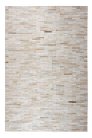 Durable Handmade Natural Leather Patchwork Cowhide Brick Area Rugs by Rug Factory Plus - Rug Factory Plus