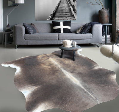 Real Leather Cowhide Cow8 by Rug Factory Plus