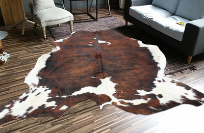 Real Leather Cowhide Cow9 by Rug Factory Plus