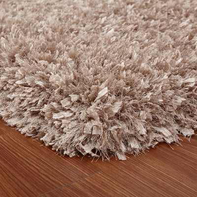 "Modern Multi-textural Appx. 3"" High Pile Crystal Shag Area Rug by Rug Factory Plus"