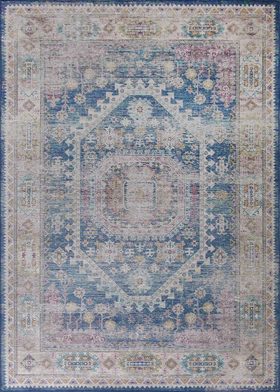 Vintage Style Soft Polyester Print on Design Elevate ELT230 Area Rug by Rug Factory Plus