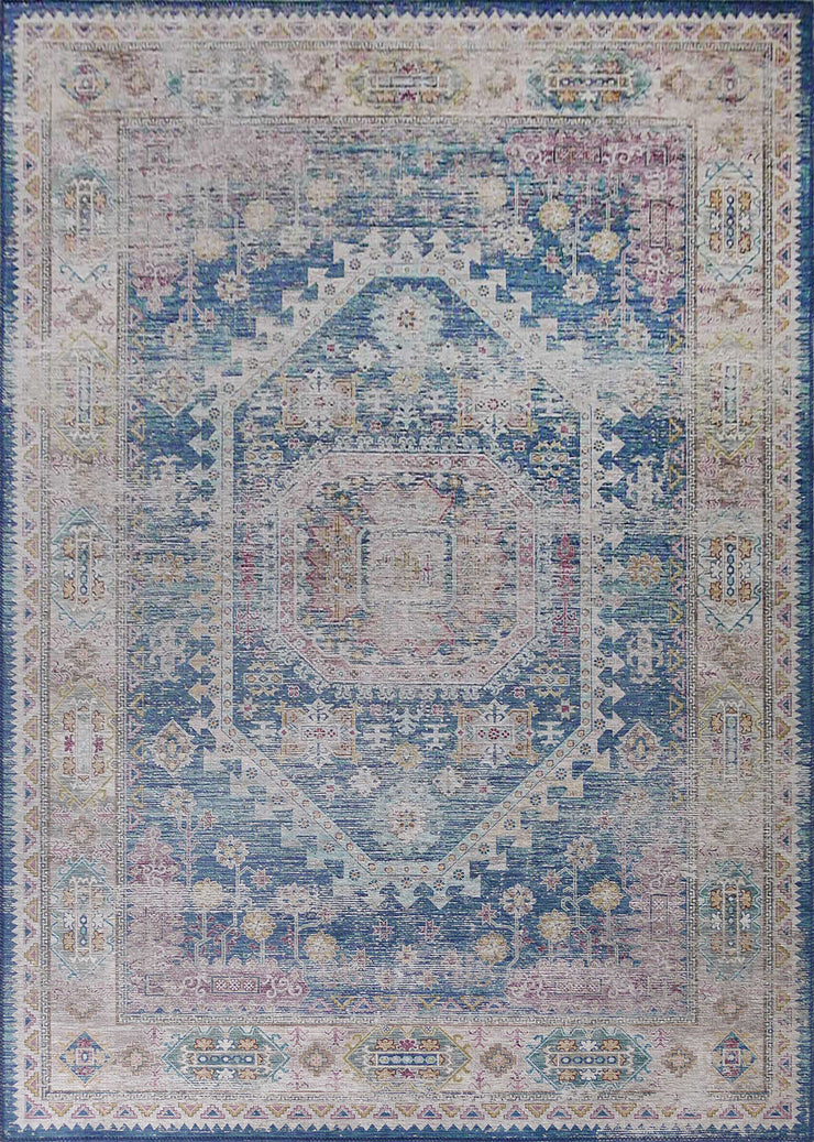 Vintage Style Soft Polyester Print on Design Elevate 230 Area Rug by Rug Factory Plus - Rug Factory Plus