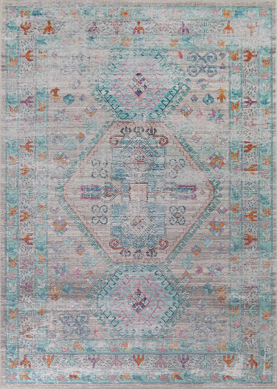 Vintage Style Soft Polyester Print on Design Elevate 231 Area Rug by Rug Factory Plus - Rug Factory Plus