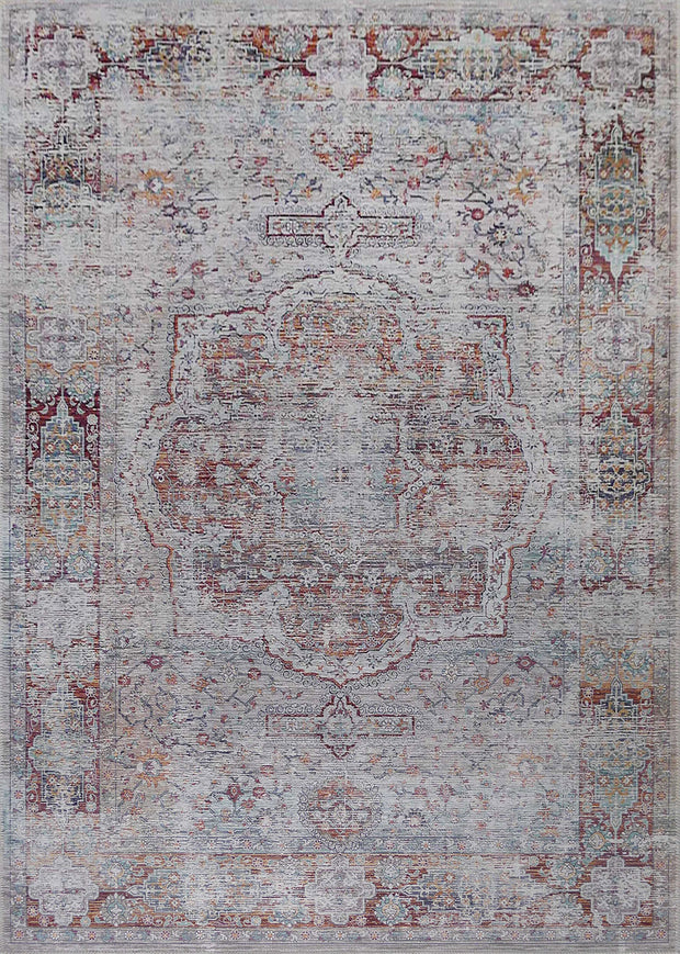 Vintage Style Soft Polyester Print on Design Elevate 232 Area Rug by Rug Factory Plus - Rug Factory Plus