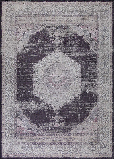 Vintage Style Soft Polyester Print on Design Elevate 233 Area Rug by Rug Factory Plus