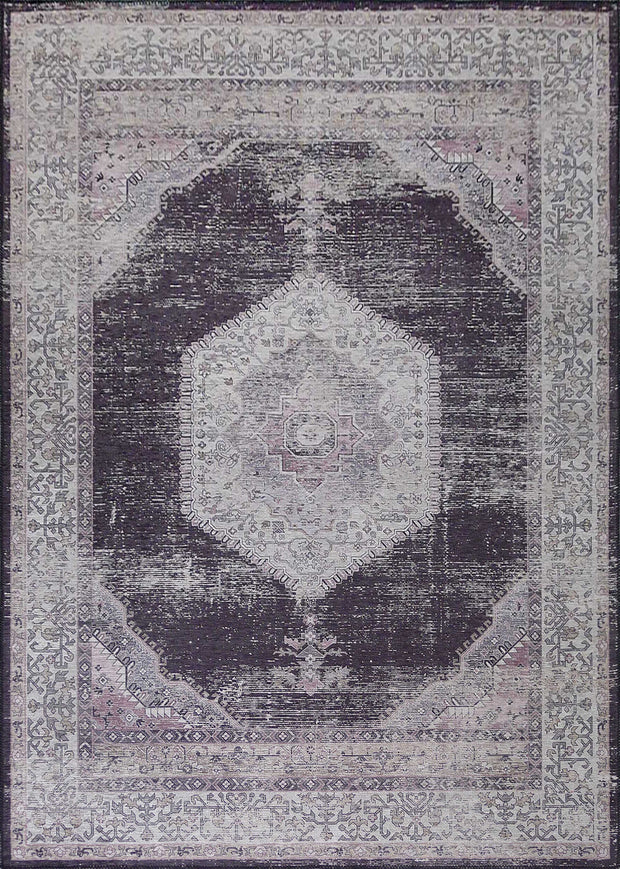 Vintage Style Soft Polyester Print on Design Elevate 233 Area Rug by Rug Factory Plus - Rug Factory Plus