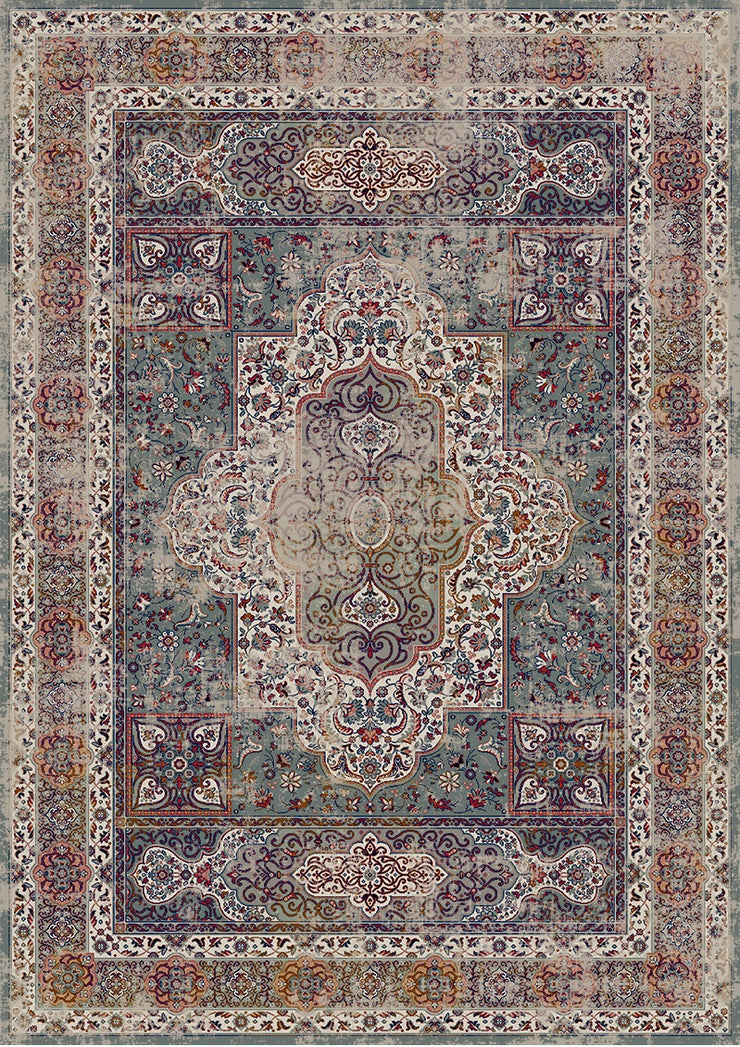 Vintage Style Soft Polyester Print on Design Elevate 234 Area Rug by Rug Factory Plus - Rug Factory Plus