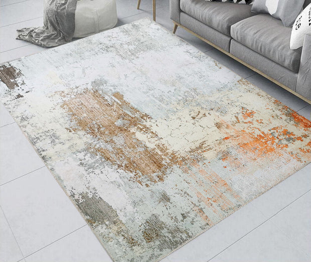 Vintage Style Soft Polyester Print on Design Elevate 240 Area Rug by Rug Factory Plus - Rug Factory Plus
