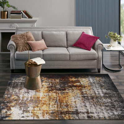 Vintage Style Soft Polyester Print on Design Elevate 241 Area Rug by Rug Factory Plus - Rug Factory Plus
