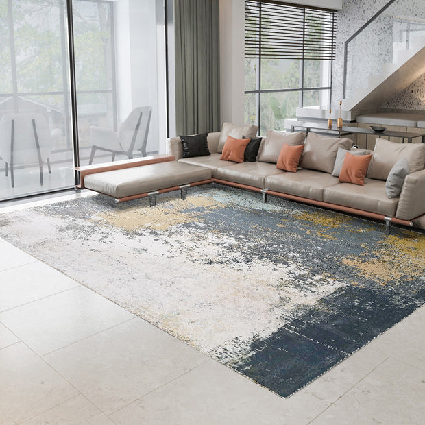 Vintage Style Soft Polyester Print on Design Elevate 242 Area Rug by Rug Factory Plus - Rug Factory Plus