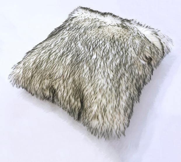 Modern Fox Faux Fur Luxury Soft Pillow by Rug Factory Plus