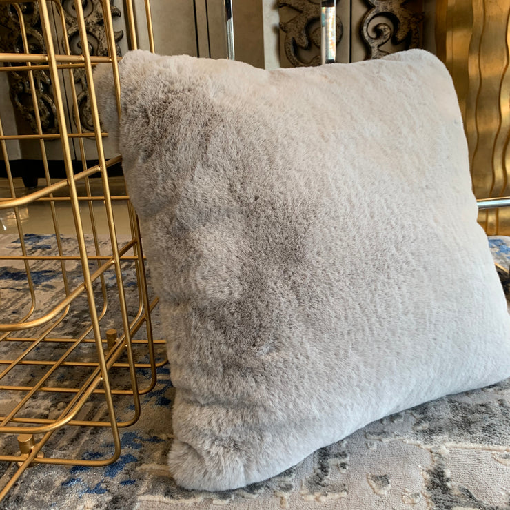 Chinchilla Feel Faux Fur Pillow by Rug Factory Plus