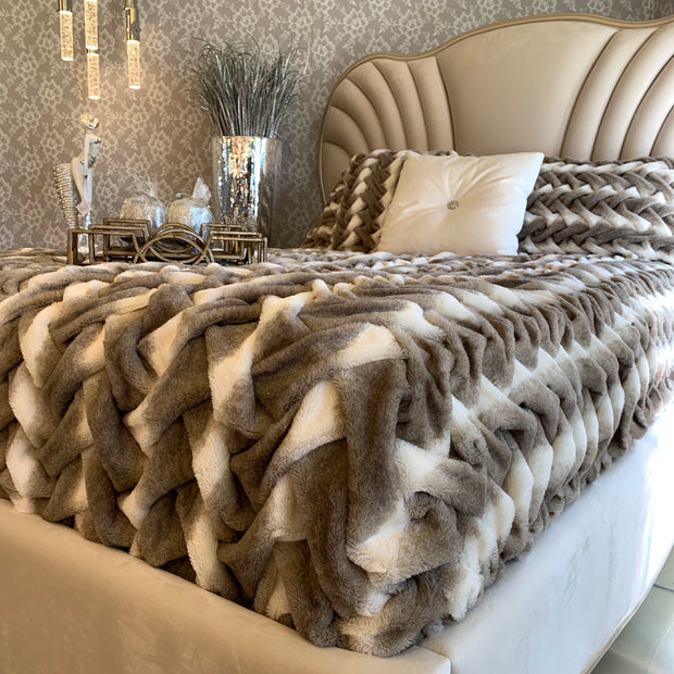 Soft Heavy Faux Fur Loufie Blanket/Coverlet by Rug Factory Plus - Rug Factory Plus