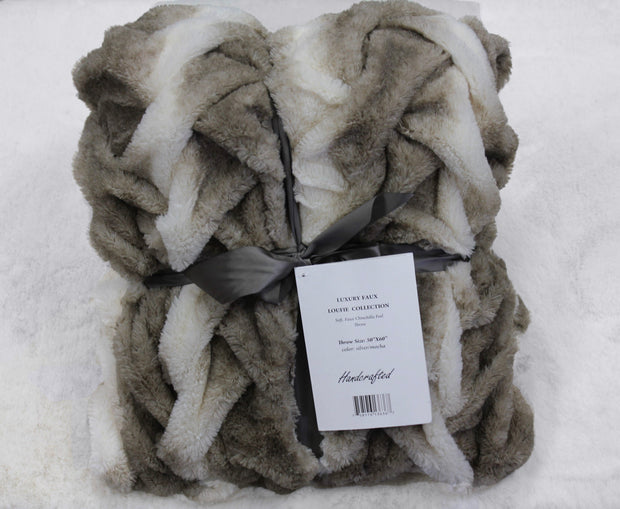 Soft Heavy Faux Fur Loufie Throw by Rug Factory Plus