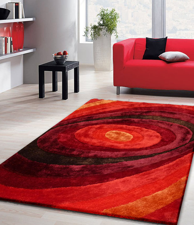Luxurious Hand Carved Vibrant Living Shag 105 Area Rug by Rug Factory Plus - Rug Factory Plus